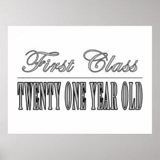 Stylish 21st Birthdays : First Class Twenty One Posters