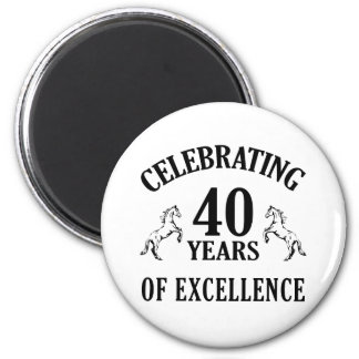 Stylish 40th Birthday Gift Ideas 6 Cm Round Magnet