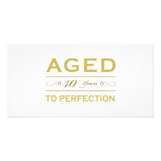 Stylish 40th Birthday Gifts Personalized Photo Card