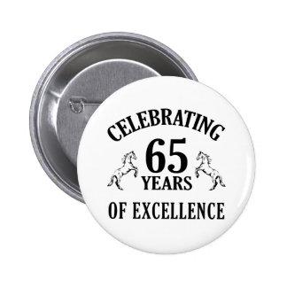 Stylish 65th Birthday Gift Ideas 6 Cm Round Badge