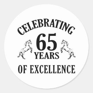 Stylish 65th Birthday Gift Ideas Classic Round Sticker