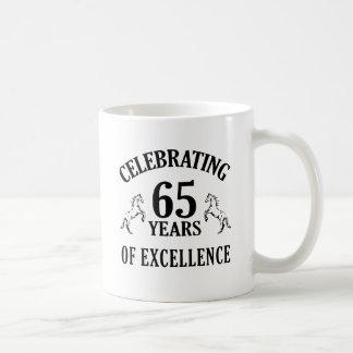 Stylish 65th Birthday Gift Ideas Coffee Mugs