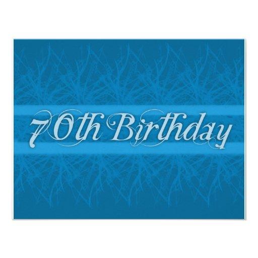 Stylish 70th Birthday Party Invitations