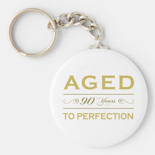 Stylish 90th Birthday Gifts Basic Round Button Key Ring