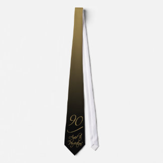 Stylish 90th Birthday Tie