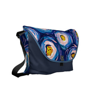 Stylish Abstract Watercolour Messenger Bag