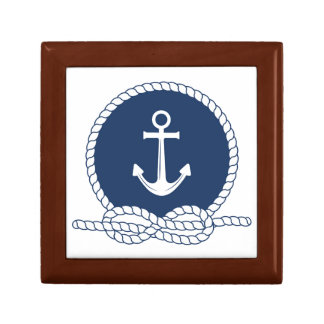 Stylish Anchor And Rope Small Square Gift Box