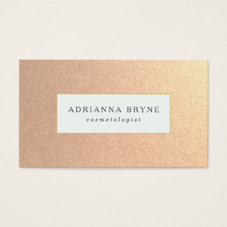 Stylish and Chic Faux Copper Business Card