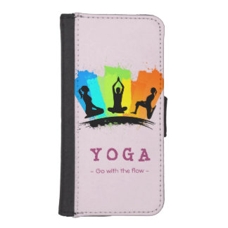 Stylish and Colorful Pilates YOGA Exercise iPhone 5 Wallet Case