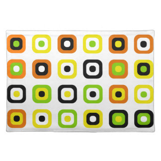 Stylish and Fun with Decorative Retro Chic Cloth Placemat