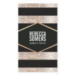 Stylish and Modern Faux Sequins Fashion and Beauty Pack Of Standard Business Cards