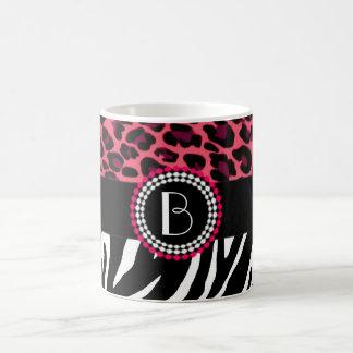 Stylish Animal Prints Zebra and Leopard Patterns Coffee Mugs