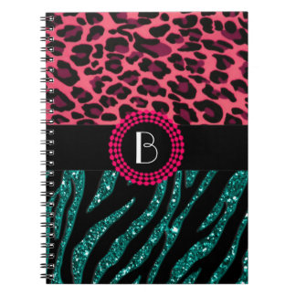 Stylish Animal Prints Zebra and Leopard Patterns Notebooks