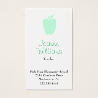Stylish Apple Teacher Business Card