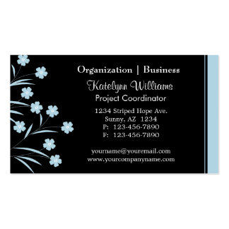 Stylish Appointment Flower Pattern Business Cards