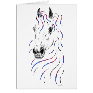 Stylish Arabian Horse Greeting Card