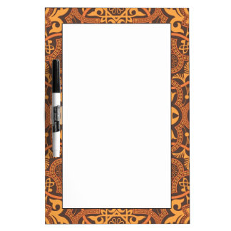 Stylish arabic ornament dry erase whiteboard