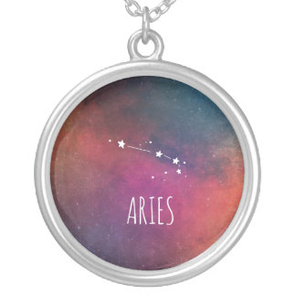 Stylish Aries Silver Plated Necklace