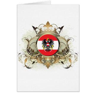 Stylish Austria Greeting Card