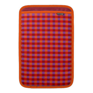 Stylish Autumn Colored Plaid Pattern Sleeve For MacBook Air
