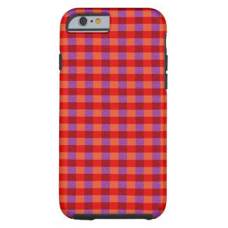 Stylish Autumn Colored Plaid Pattern Tough iPhone 6 Case