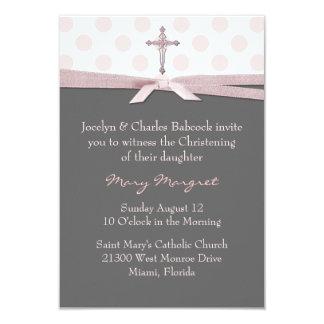 Stylish Baby Girl Christening Invitation