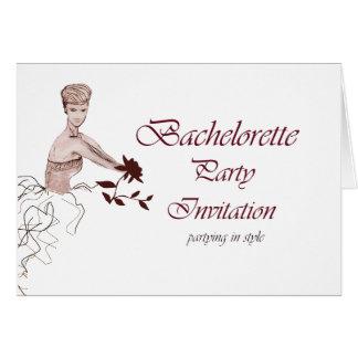 Stylish bachelorette party Invitation Greeting Card