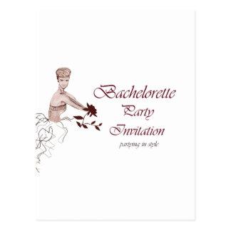 Stylish bachelorette party Invitation Postcard