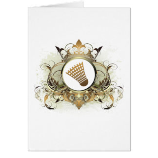 Stylish Badminton Greeting Card