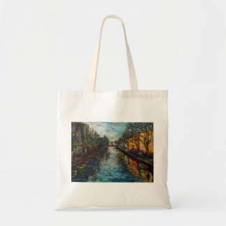 Stylish bag with Amsterdam`s view
