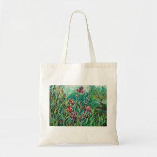 Stylish bag with irises
