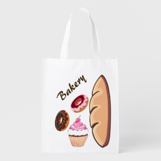 Stylish Bakery Goods Grocery Bag