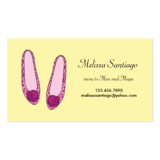 Stylish Ballet Flat Shoes Business Card Template
