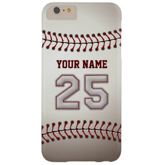 Stylish Baseball Number 25 Custom Name - Unique Barely There iPhone 6 Plus Case