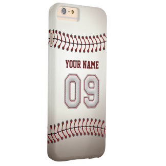 Stylish Baseball Number 9 Custom Name - Unique Barely There iPhone 6 Plus Case