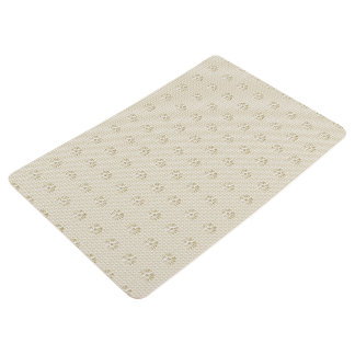 Stylish-Bath-Bed-Classic-Floral-Beige-Rug's Floor Mat
