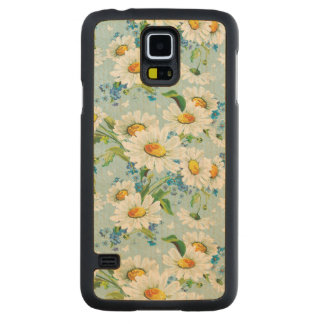 Stylish beautiful bright floral pattern 2 carved maple galaxy s5 case