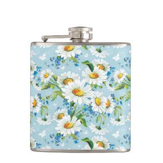 Stylish beautiful bright floral pattern 2 hip flask