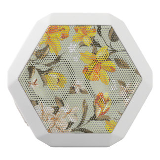 Stylish beautiful bright floral pattern white boombot rex bluetooth speaker