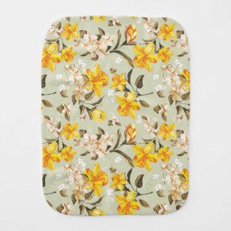 Stylish beautiful bright floral pattern burp cloth