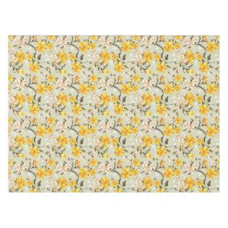 Stylish beautiful bright floral pattern tablecloth