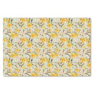 Stylish beautiful bright floral pattern tissue paper