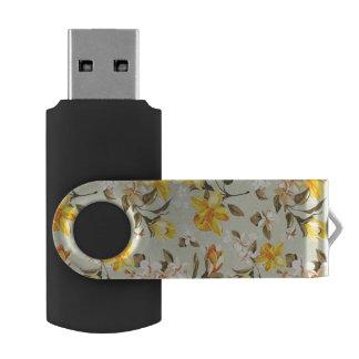 Stylish beautiful bright floral pattern USB flash drive