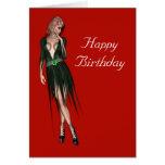 Stylish beautiful sensual woman cards
