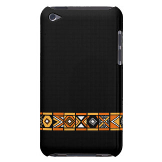 Stylish Black African art pattern ipod touch case