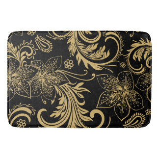 Stylish black and gold Bath Mat