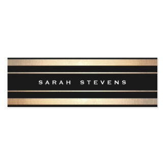 Stylish Black and Gold Striped Modern Professional Pack Of Skinny Business Cards