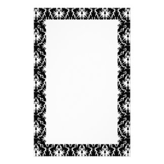 Stylish Black and White Damask Pattern. Stationery