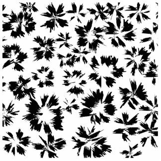 Stylish Black and White Floral Pattern. Cut Outs