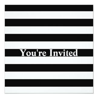 Stylish Black And White Horizontal Stripes Card